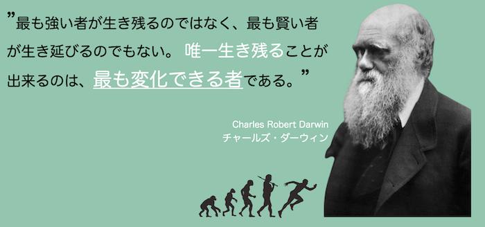進化論で有名な「ダーウィン」の言葉